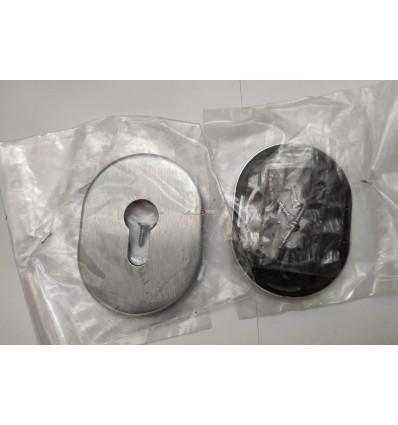 Rozeta wkładki stalowa duża - chrom szczotkowany