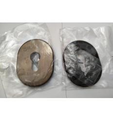 Rozeta wkładki stalowa duża - stary mosiądz